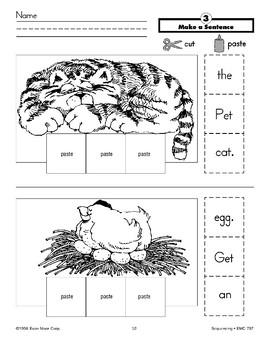 Make a Sentence (cat, chicken)