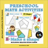 2D Shape Activities MAKE A SHAPE for Preschool, Pre-K, Kin