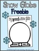 Make a Snow Globe - FREEBIE!