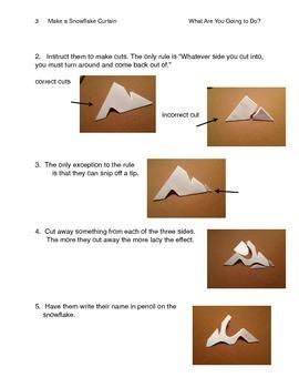 Make a Snowflake Curtain