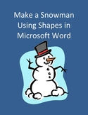 Make a Snowman Using Shapes in Microsoft Word - Geometry
