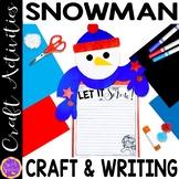 Snowman craft   How to Build a Snowman   Snowmen Writing  