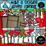 Make a Stocking Advent Calendar Clip Art Set - Chirp Graphics
