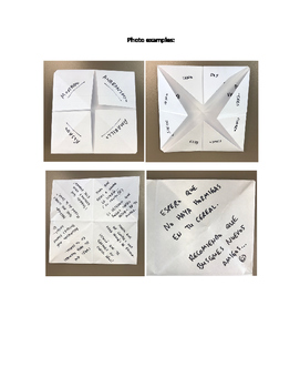 Make a Subjunctive Origami Fortune Teller!