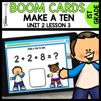 Make a TEN to ADD BOOM CARDS