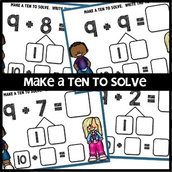 Make a TEN to ADD BOOM CARDS | DIGITAL TASK CARDS