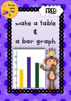 Survey, Gather Data, Make a Table & a Bar Graph Activity!