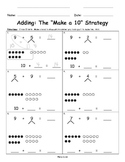 Make Ten Adding with Number Bonds for Singapore Math, Math in Focus, Eureka Math
