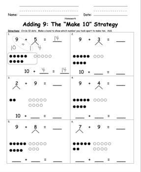 Make Ten Adding with Number Bonds for Singapore Math, Math ...