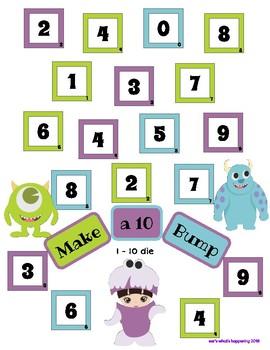 Make a Ten Bump - Monsters, Inc and MU Theme