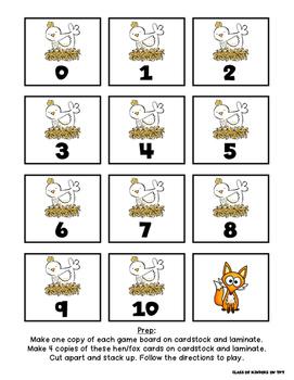 Make a Ten {Cluck Like a Hen Game} First Grade and Kindergarten Mental Math