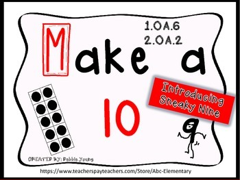 Make a Ten Common Core Fast Fact Math Fluency Practice