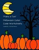 Make a Ten Halloween Color Code