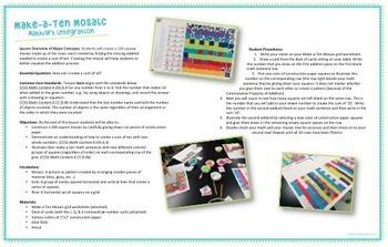 Make-a-Ten Mosaic  - Arts Integration