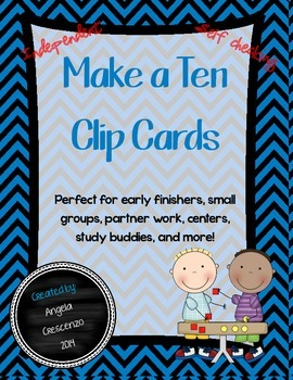 Make a Ten / Ten Frame Clip Cards FREEBIE