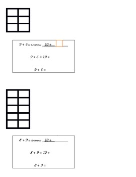 Make a Ten - Use Ten Frames to Review Sums to 20