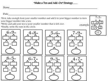 """Make a Ten and Add-on"" Strategy"