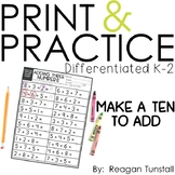 Print and Practice Make a Ten to Add
