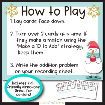 Make a Ten to Add Using Ten Frames/ Addition