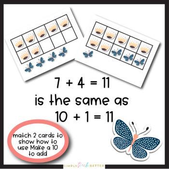 Make a Ten to Add Using Ten Frames/ Addition {Spring}