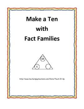 Make a Ten using Fact Family Triangles