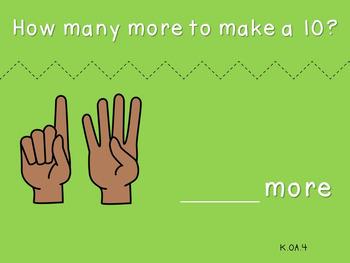 Make a Ten with Fingers (***FREEBIE***Kindergarten-K.OA.4)