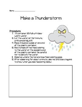 Make a Thunderstorm Experiment
