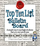 Make a Top 10 Spotlight Student Bulletin Board