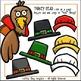 Make a Turkey Thanksgiving Clip Art Set - Chirp Graphics
