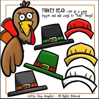 Make a Turkey Thanksgiving Clip Art Set - Chirp Graphics