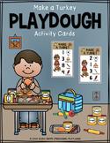 Make a Turkey Playdough Activity Cards