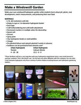 Make a Windowsill Garden   Intro to Hydroponics   {STEM}, pH, Garden, Biology