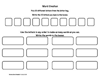 """Make a Word"" Activity"