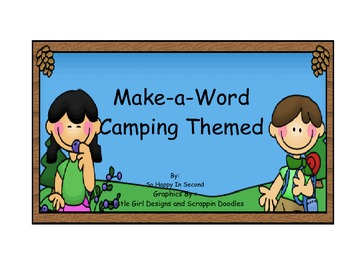 Make A Word Camping Themed
