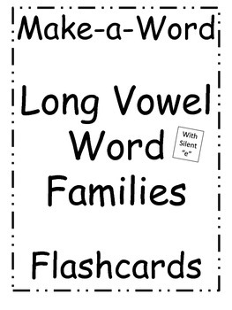 Make-a-Word Long Vowel Word Families