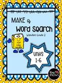 Make a Word Search McGraw Hill Wonders Grade 2 Units 1-6 Bundle