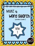 Make a Word Search McGraw Hill Wonders Grade 2 Unit 1 Week 1 FREEBIE