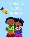 Make a Word Search Spelling Practice Worksheet