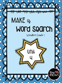 Make a Word Search McGraw Hill Wonders Grade 1 Unit 4
