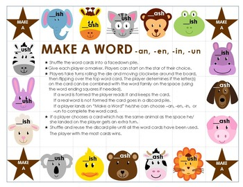 Make a Word: Word Families