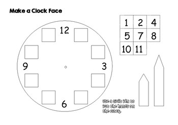 Make a clock face