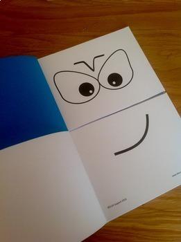 Make a face flip booklet
