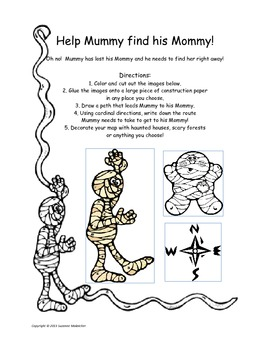 Make a map and help Mummy find his Mommy!