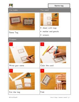 Make a name card- step by step