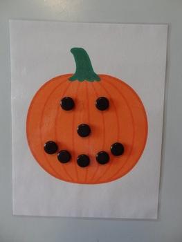 Make a pumpkin face magnet sheet