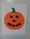 Make a pumpkin face magnet sheet