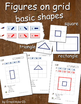 Figures on grid: square, rectangle, triangle
