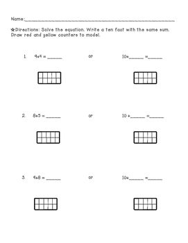 Make a ten addition strategy practice