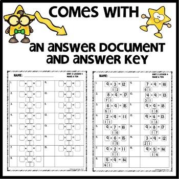 Make a ten to help you solve  DIGITAL TASK CARDS | PRINTABLE TASK CARDS