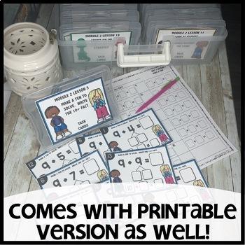 Make a ten to help you solve  DIGITAL/PRINTABLE TASK CARDS